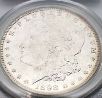 1898 MORGAN SILVER DOLLAR PCGS MINT STATE 64  BRIGHT EYE APPEAL