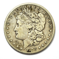 1878 7/5TF $1 MORGAN SILVER ONE DOLLAR US  PHILADELPHIA VAM 40