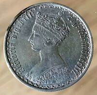GREAT BRITAIN  GOTHIC SILVER 1 FLORIN 1852