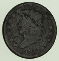 1812 CLASSIC HEAD LARGE CENT - CIRCULATED 8773