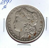 1891-S MORGAN SILVER DOLLAR GRADES  GOOD  C2788