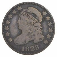 1828 CAPPED BUST DIME - LARGE DATE 7337