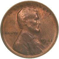 1941 S LINCOLN WHEAT CENT UNCIRCULATED PENNY US COIN