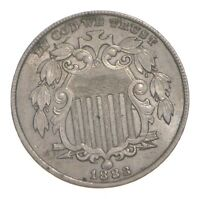 1883 SHIELD NICKEL 4765