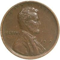 1919 LINCOLN WHEAT CENT EXTRA FINE PENNY EXTRA FINE