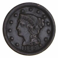 1847 BRAIDED HAIR LARGE CENT - NEAR UNCIRCULATED 9732