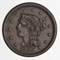 1856 BRAIDED HAIR LARGE CENT 4431