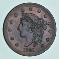 1839 BRAIDED HAIR LARGE CENT 4968