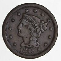 1857 BRAIDED HAIR LARGE CENT 4430