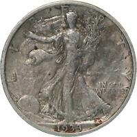 1933 S WALKING LIBERTY HALF DOLLAR 90 SILVER VF DETAILS CLEANED SEE PHOTOS C239
