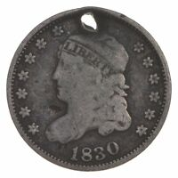 RARE   1830 CAPPED BUST HALF DIME   TOUGH TO FIND   US EARLY