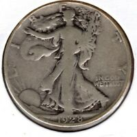 1928-S SILVER WALKING LIBERTY HALF DOLLAR GRADES  GOOD C1926