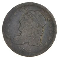 RARE   1837 CAPPED BUST HALF DIME   TOUGH TO FIND   US EARLY
