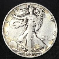 1928-S WALKING LIBERTY HALF DOLLAR CHOICE FINE SHIPS FREE E335 JCE
