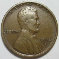 1914 D LINCOLN CENT   NICE KEY DATE WHEAT CENT   FREE SHIPPI