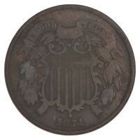 1871 TWO CENT PIECE   PRESTIGE COIN COLLECTION  440