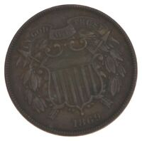 1869 TWO CENT PIECE   PRESTIGE COIN COLLECTION  441