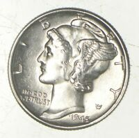 CH UNC 1945 MERCURY LIBERTY DIME   90  SILVER   FROM AN ORIG
