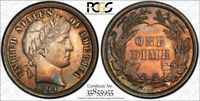 1894 10C BARBER DIME PCGS MINT STATE 62 UNCIRCULATED MINT STATE TONED TOUGH