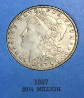 MORGAN SILVER DOLLARS 1887 GREAT CONDITION