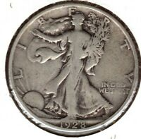 1928-S WALKING LIBERTY SILVER HALF DOLLAR GRADES FINE  C2733