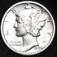 UNCIRCULATED 1934 MERCURY SILVER DIME