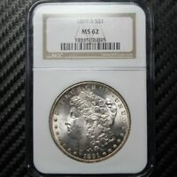 1891 S MORGAN SILVER DOLLAR NGC MINT STATE 62 02015