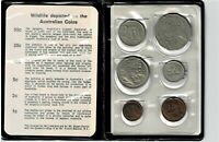 AUSTRALIA 6 COIN MINT SET 1969 IN BLUE WALLET