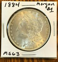 1884 MORGAN SILVER DOLLAR - BEAUTIFUL MINT STATE MS COIN