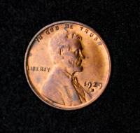 1929-D LINCOLN WHEAT CENTBRILLIANT UNCIRCULATED RED GEMCOMBINED SHIPPING