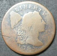 1795 LETTERED EDGE LIBERTY CAP LARGE CENT COIN