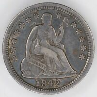 1842 O SEATED LIBERTY HALF DIME H10C VF  FINE 9764