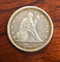1875 S 20C TWENTY CENT PIECE EARLY U.S. COLLECTIBLE COIN