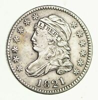 1821 CAPPED BUST DIME - CIRCULATED 4302
