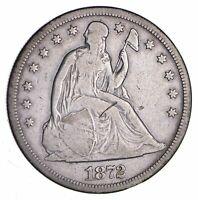 1872-S SEATED LIBERTY SILVER DOLLAR - CIRCULATED 1223