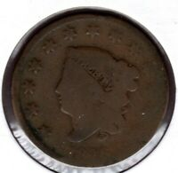 1826 CORONET HEAD LARGE CENT CIRCULATED  C1612