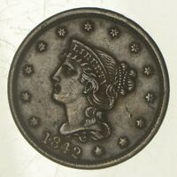 1842 BRAIDED HAIR LARGE CENT - LARGE DATE 5910