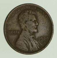 1909-S LINCOLN WHEAT CENT - CIRCULATED 0470