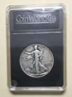 1938 D WALKING LIBERTY HALF DOLLAR-COMES IN COIN WORD CASE.LOW MINTAGE