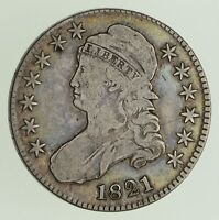 1821 CAPPED BUST HALF DOLLAR - CIRCULATED 0441