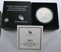 2013 P ATB FIVE OUNCE SILVER UNCIRCULATED GREAT BASIN   NEVA