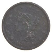 BETTER 1842 BRAIDED HAIR US LARGE CENT PENNY COIN COLLECTION