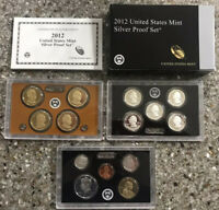 2012 S UNITED STATES MINT SILVER PROOF SET 14 COINS W/ COA &