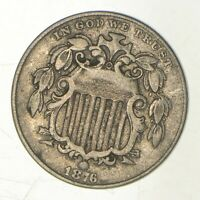 1876 SHIELD NICKEL   GREENBERG COIN COLLECTION  992