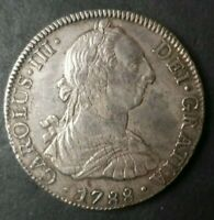1788 SPANISH COLONIAL 8 REALES SILVER COIN