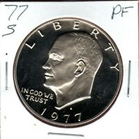 1977-S CLAD EISENHOWER DOLLAR A  CAMEO PROOF BUY IT NOW C1163