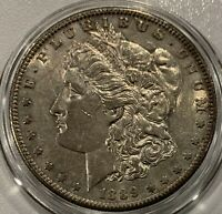 1889 S MORGAN SILVER DOLLAR - SAN FRANCISCO MINT - AU CONDITION