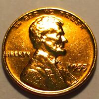 1955 DDO DOUBLED DIE LINCOLN CENT   CHOICE BU RED NO RESERVE