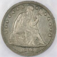 1846 1846-P LIBERTY SEATED SILVER DOLLAR ICG EF40 EXTRA FINE 40