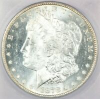 1878-S MORGAN SILVER DOLLAR ICG MINT STATE 64 BEAUTIFUL FLASHY COIN